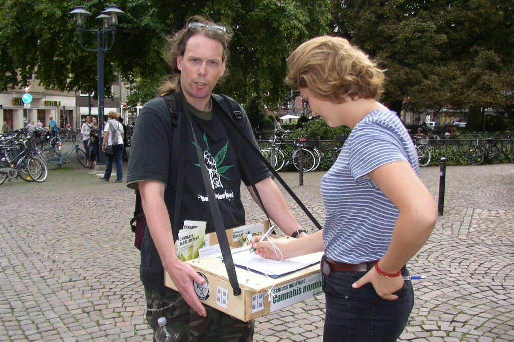 Cannabis-Petition 2014 in Münster