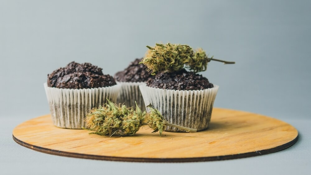 Homemade Cakes With Cannabis And Buds Of Marijuana Concept Of Using Marijuana In Food Industry Cake T20 OzB8m8